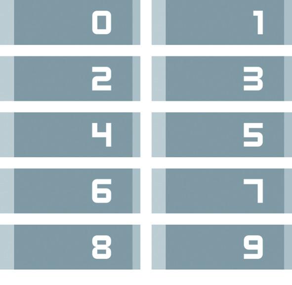 Kit card numeriche