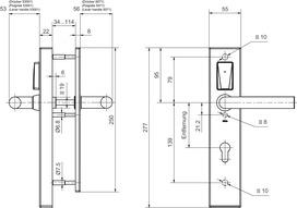 Ferrements électr. GLUTZ eAccess large acier Public 80510