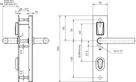 E-Beschlag GLUTZ eAccess Stahl Privat 80125