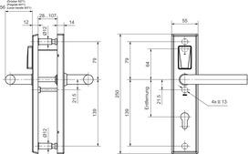 E-Beschlag GLUTZ eAccess ES-3 Privat 80160