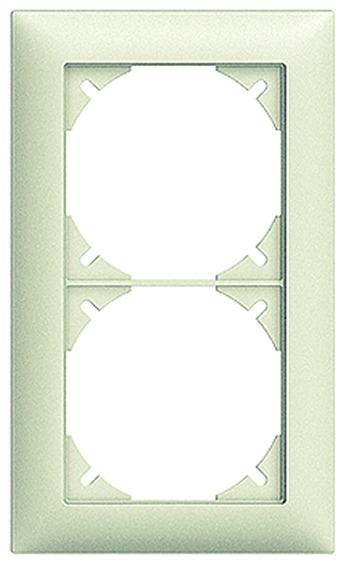 Cadre de recouvrement EDIZIOdue, 2 x 1 / 1 x 2
