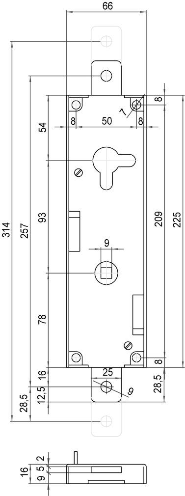 Serrures pour portes de garage SCHÄNIS 4104