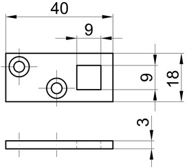 Guide per bacchette per catenaccio d'incassare a filo, con leva MSL 1808