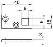 Lacets pour targette à levier à entailler MSL 1808