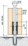 Mehrpreis für PLANET Bohrung 5x13 mm inkl. Kunststoffführung