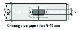Catenacciolo a filo PLANET KRper soglie automatiche a 2 ante PLANET larghezza profilo 13 mm e 20 mm