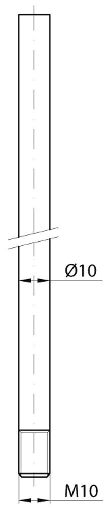 Tringles rondes MSL 1825 pour targette à levier à entailler
