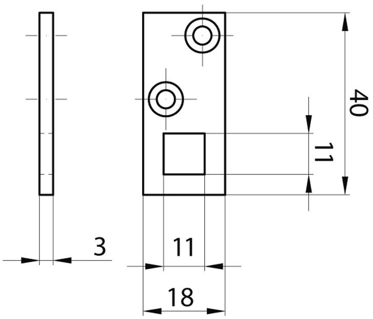 Lacets pour targette à levier à entailler MSL 1807