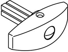Pomelli girevoli per serrature a cariglione HAWA
