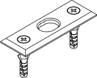 Schliessbleche für Schiebetür-Stangenverschlüsse HAWA-Doorfix