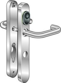 Sistema apriporta B320 Kaba elolegic c-lever schmal