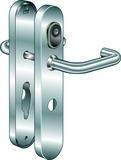 Système d'ouverture de porte B330 Kaba elolegic c-lever breit