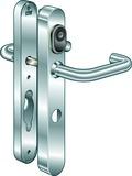 Système d'ouverture de porte B370 Kaba elolegic c-lever schmal