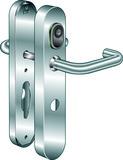 Système d'ouverture de porte B380 Kaba elolegic c-lever breit