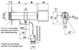 Drehknopfzylinder Kaba evolo 1549-K5/MRD/E300/BSZ Mechatronik Stulp