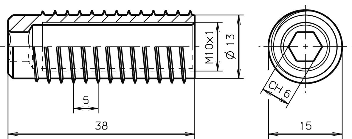 Gewindehülsen SASSBA EI30, MF 10x1