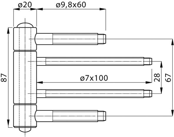 Haustürbänder ANUBA Top 320 EI30