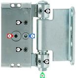 Paumelles pour portes ANUBA Duplex 320-3D