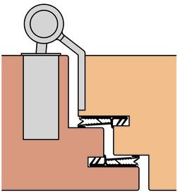 Paumelles pour portes ANUBA Duplex 320-3D-TST