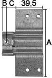Girella posa-ficci 15 mm