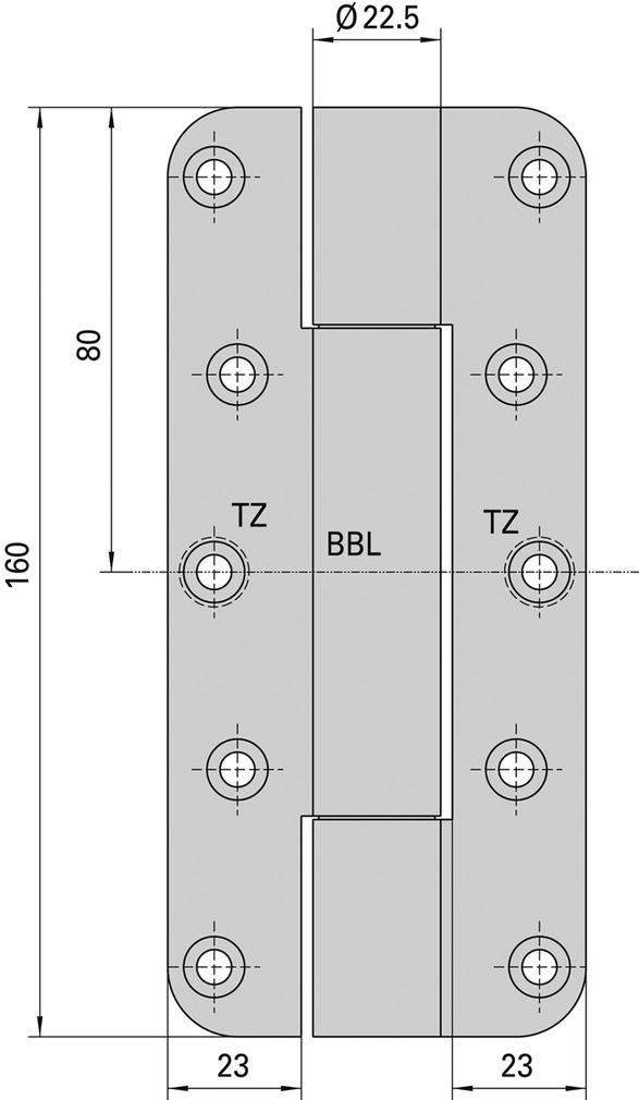 Cerniere-pomelle SIMONSWERK VARIANT VN 2828