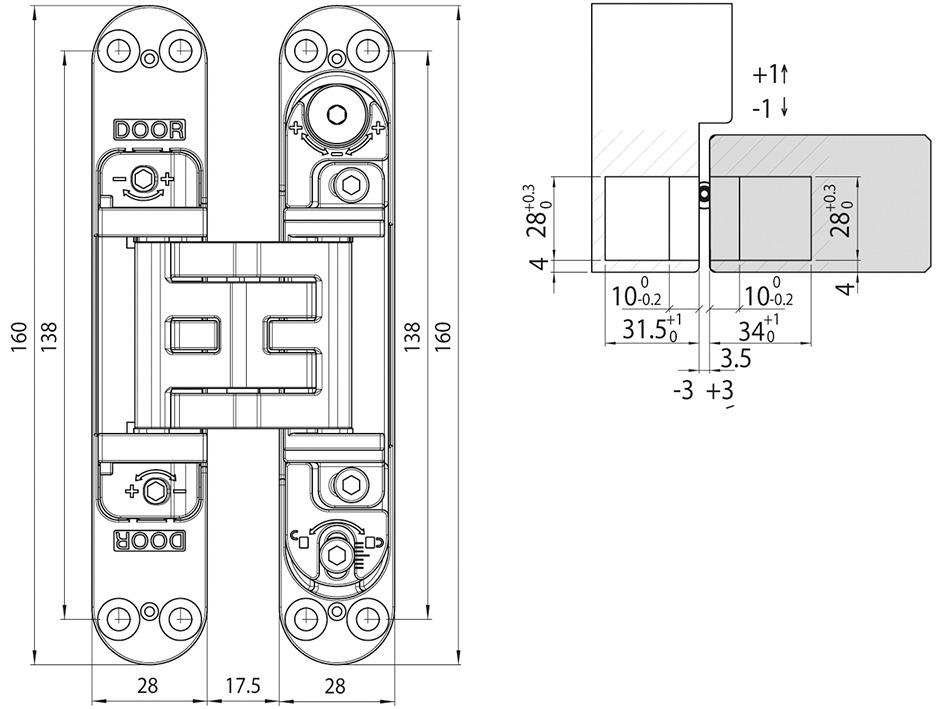 Cerniere-pomelle GLUTZ 76000 3D