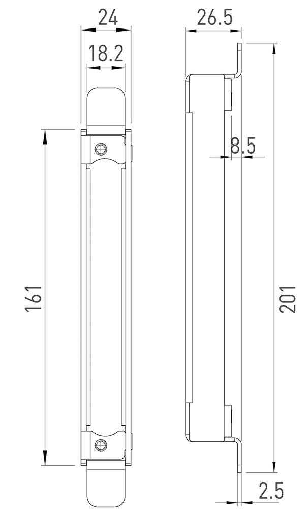 Elementi di sostegno GLUTZ per stipiti in acciaio