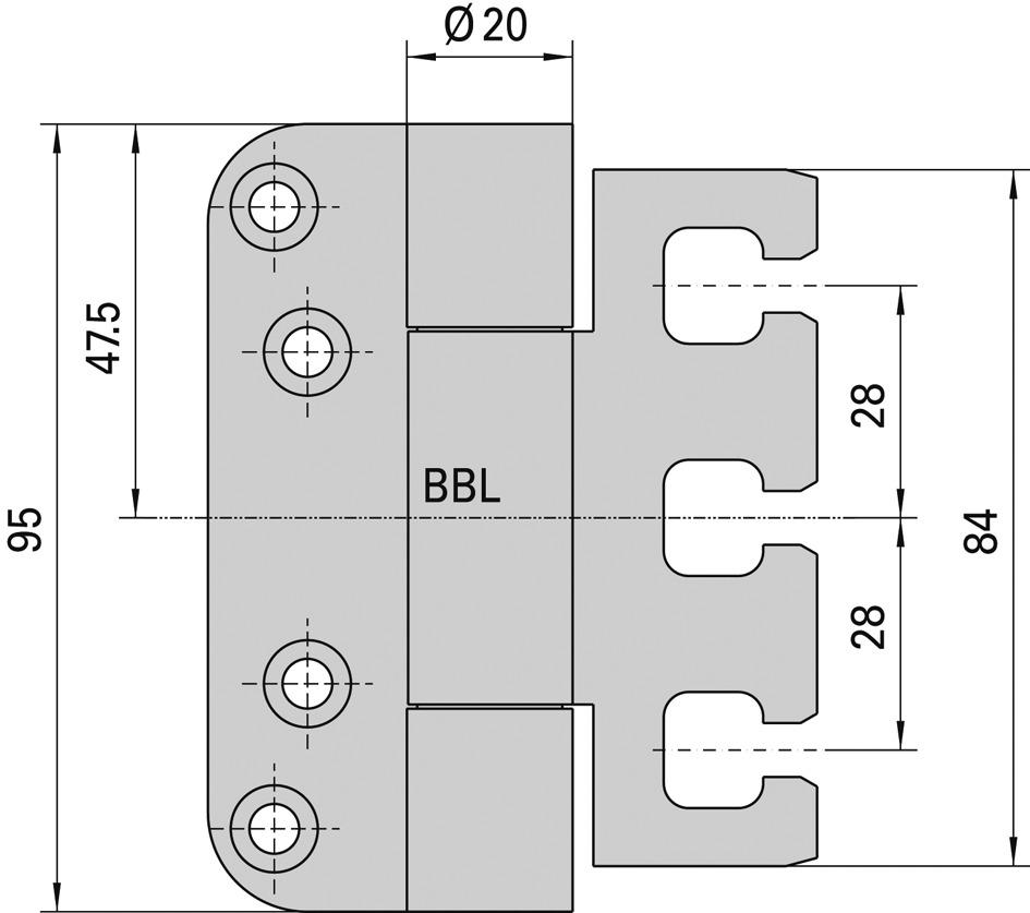 Cerniere-pomelle SIMONSWERK VARIANT VX 7728