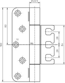 Paumelles SIMONSWERK VARIANT VX 7729/160-4 VBRplus