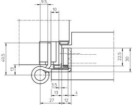 Paumelles SIMONSWERK VARIANT VX 7939/160-4 FD VBRplus