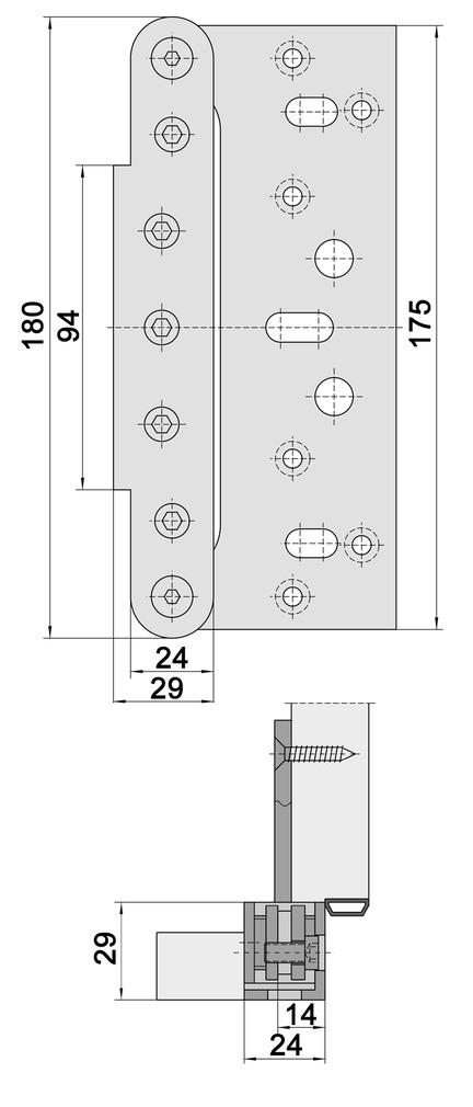 Placchette di copertura SIMONSWERK VARIANT VX 75