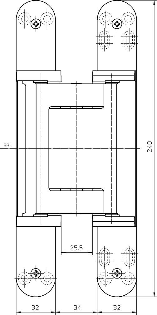Objektbänder SIMONSWERK TECTUS TE 640 3D A8 FR