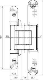 Paumelles SIMONSWERK TECTUS TE 380 3D