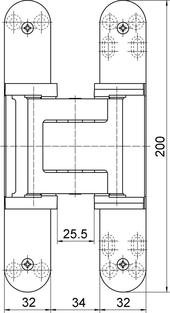 Paumelles SIMONSWERK TECTUS TE 540 3D A8 FR