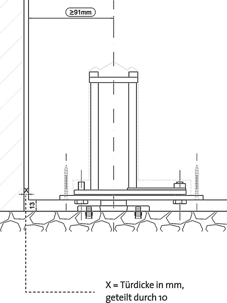 Cerniere per porte a vento  FRITSJURGENS Sistema 3