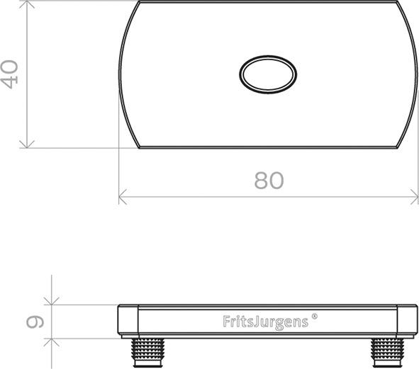 Charnières pour portes va-et-vient FRITSJURGENS System M32