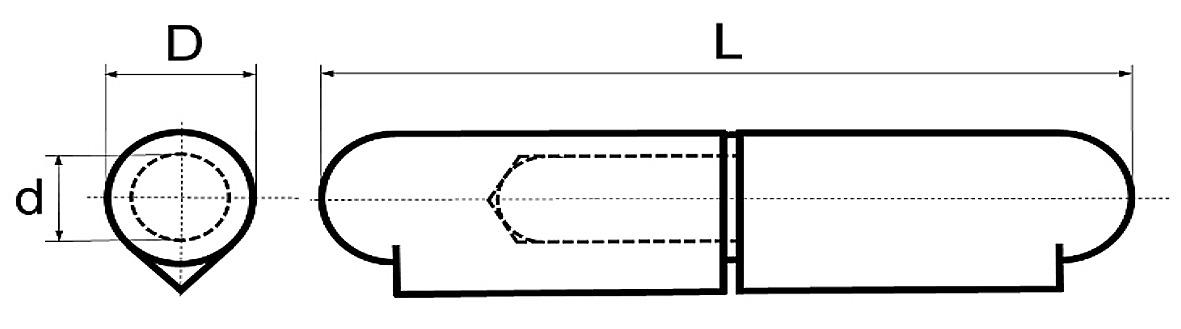 Paumelles à souder BRINER type 22