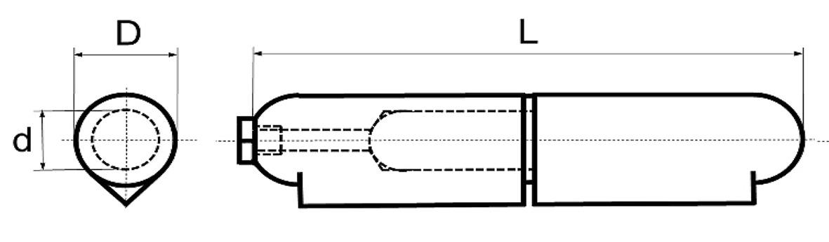 Paumelles à souder BRINER type 30/T