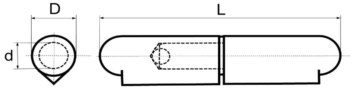 Paumelles à souder BRINER type 32