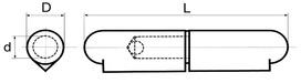 Paumelles à souder BRINER type 34
