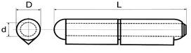 Paumelles à souder BRINER type 21