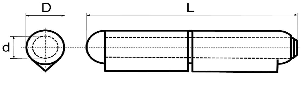 Paumelles à souder BRINER type 23