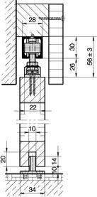 Ferrements pour portes coulissantes HAWA-Junior 40/Z