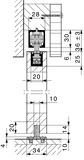 Ferramenta per porte scorrevoli HAWA-Junior 40/B