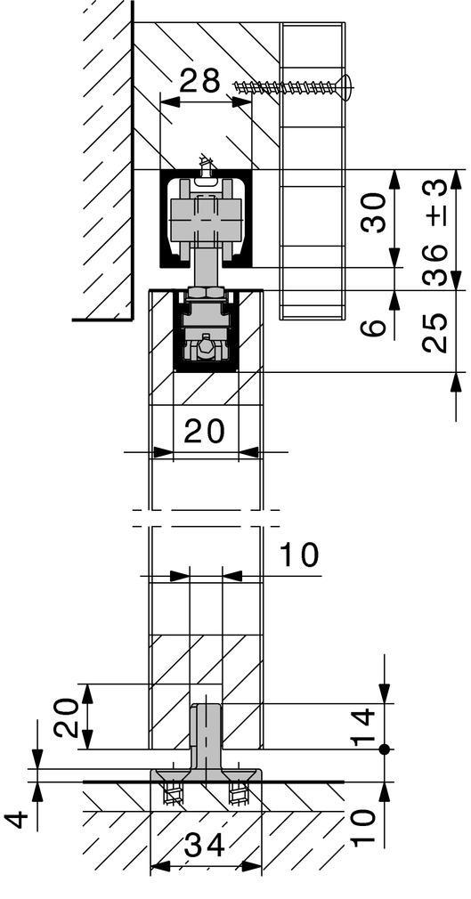 Ferrements pour portes coulissantes HAWA-Junior 40/B