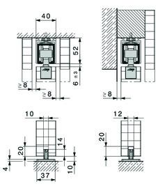 Ferrements pour portes coulissantes HAWA-Junior 80/B-Pocket