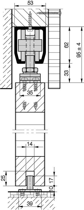 Schiebetürbeschläge HAWA-Junior 160/A