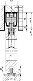 Schiebetürbeschläge HAWA-Junior 160/B