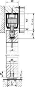 Ferramenta per porte scorrevoli HAWA-Junior 160/B