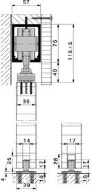 Ferrements pour portes coulissantes HAWA-Junior 250/A